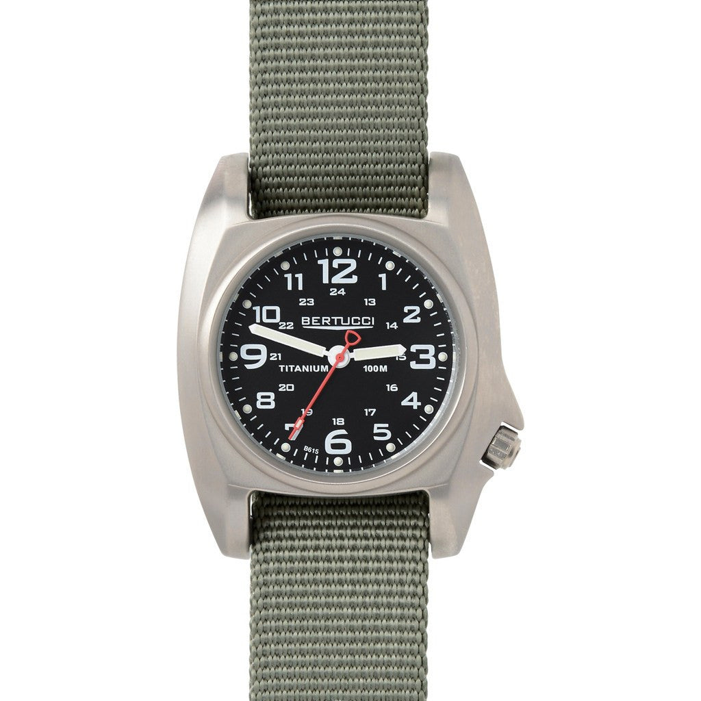 Bertucci B-1T Titanium Field Watch | Black/Defender Drab 14001