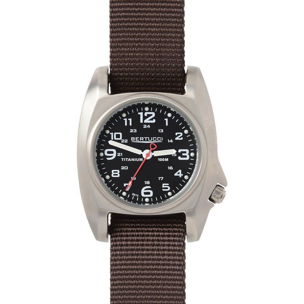 Bertucci B-1T Titanium Field Watch | Black/Defender Brown 14003