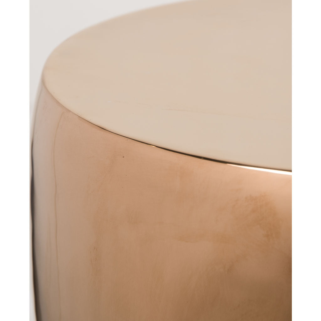 Resource Decor Bessie Side Table | Rose Gold/Oak