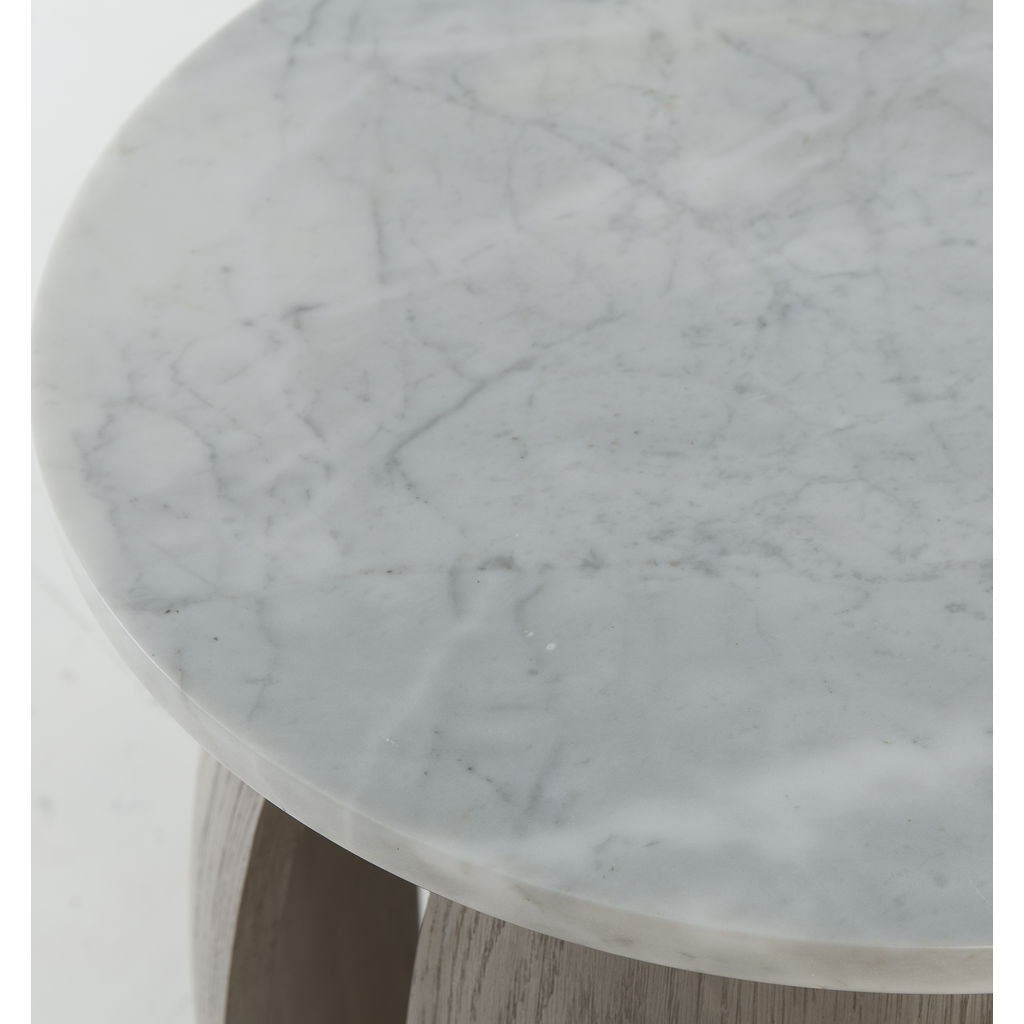 Resource Decor Gray Pedestal Table | Solid Resin
