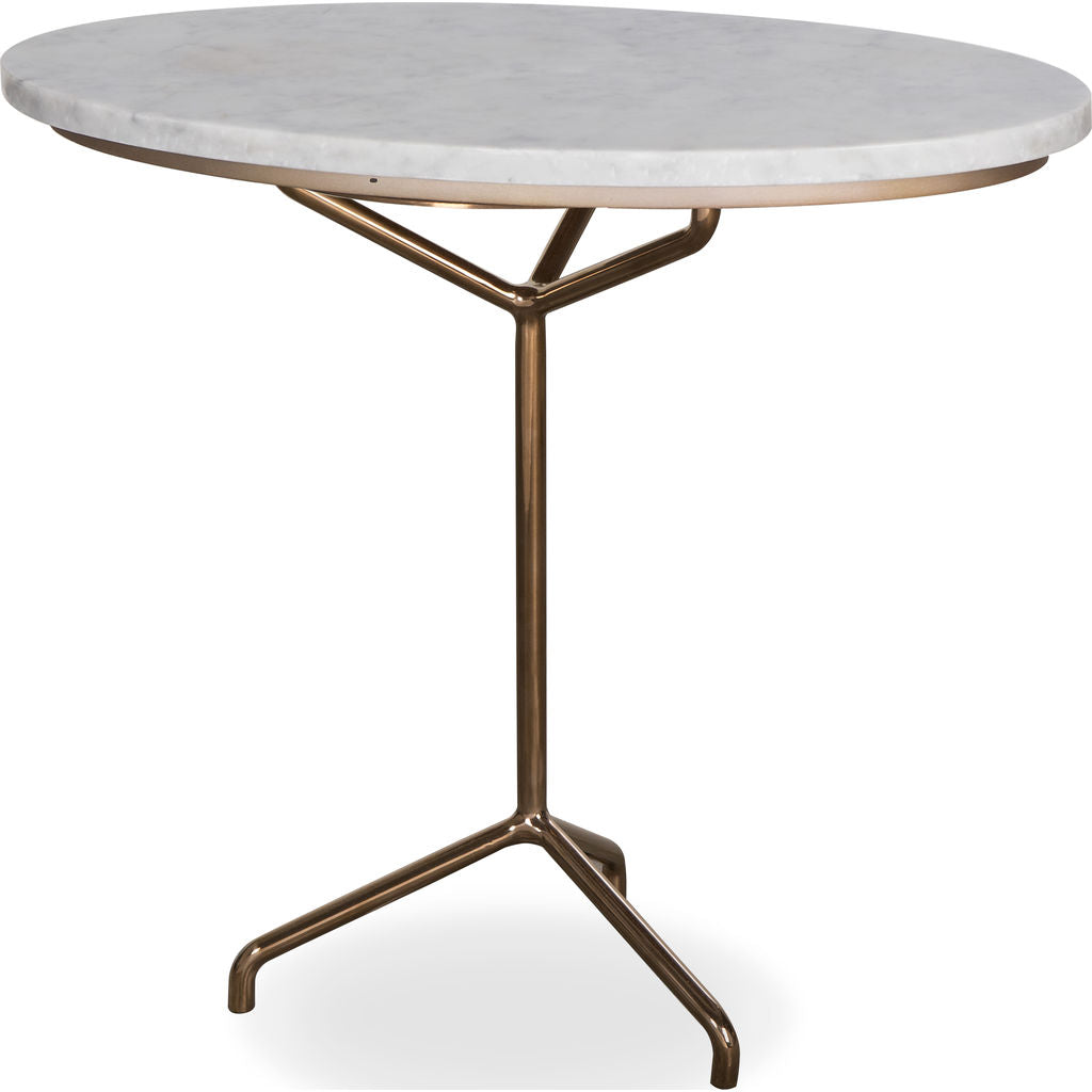 Resource Decor Rose Side Table | White Marble/Rose Gold