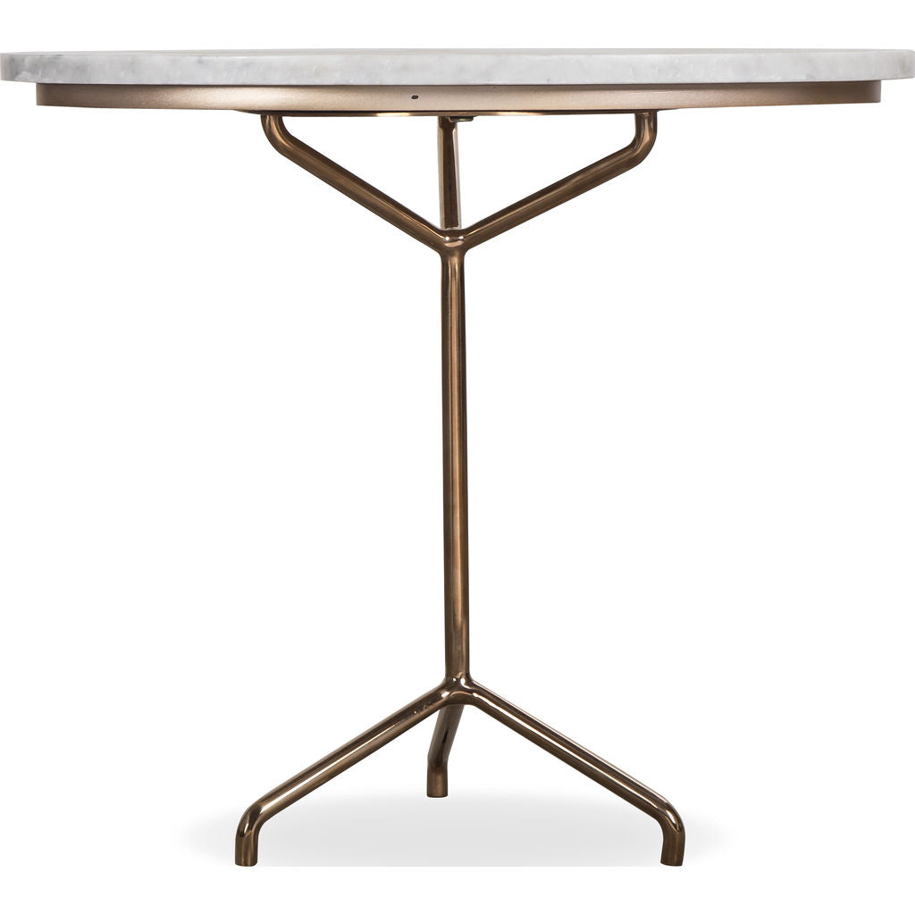 Resource Decor Rose Side Table White Marble Rose Gold Sportique
