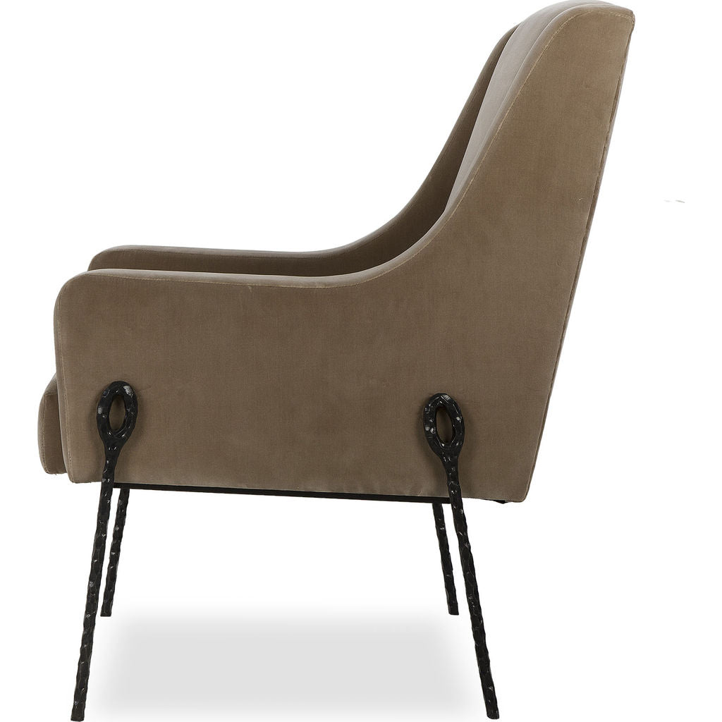 Resource Decor Bailey Occasional Chair | Taupe/Black