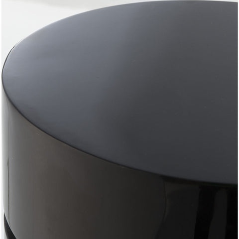 Resource Decor Morrison Ottoman | Round /Black Lacquer
