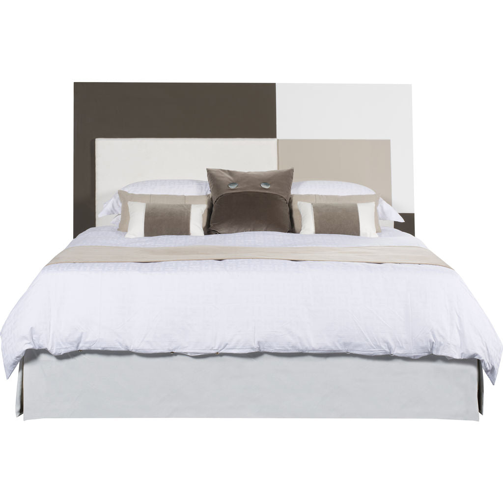 Resource Decor Mondrian King Sized Bed | Cream/Brown/White