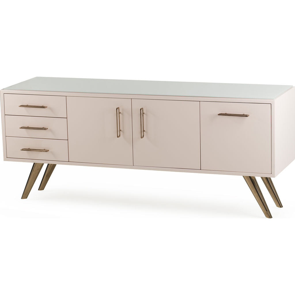 Resource Decor Diaz Chest | Dusty Pink/Rose Gold