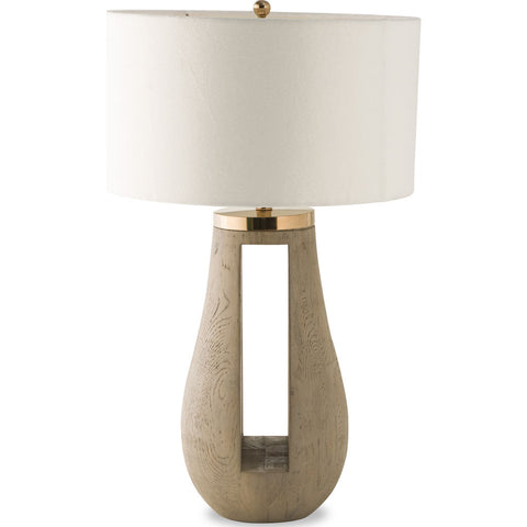 Resource Decor Gray Table Lamp | Resin