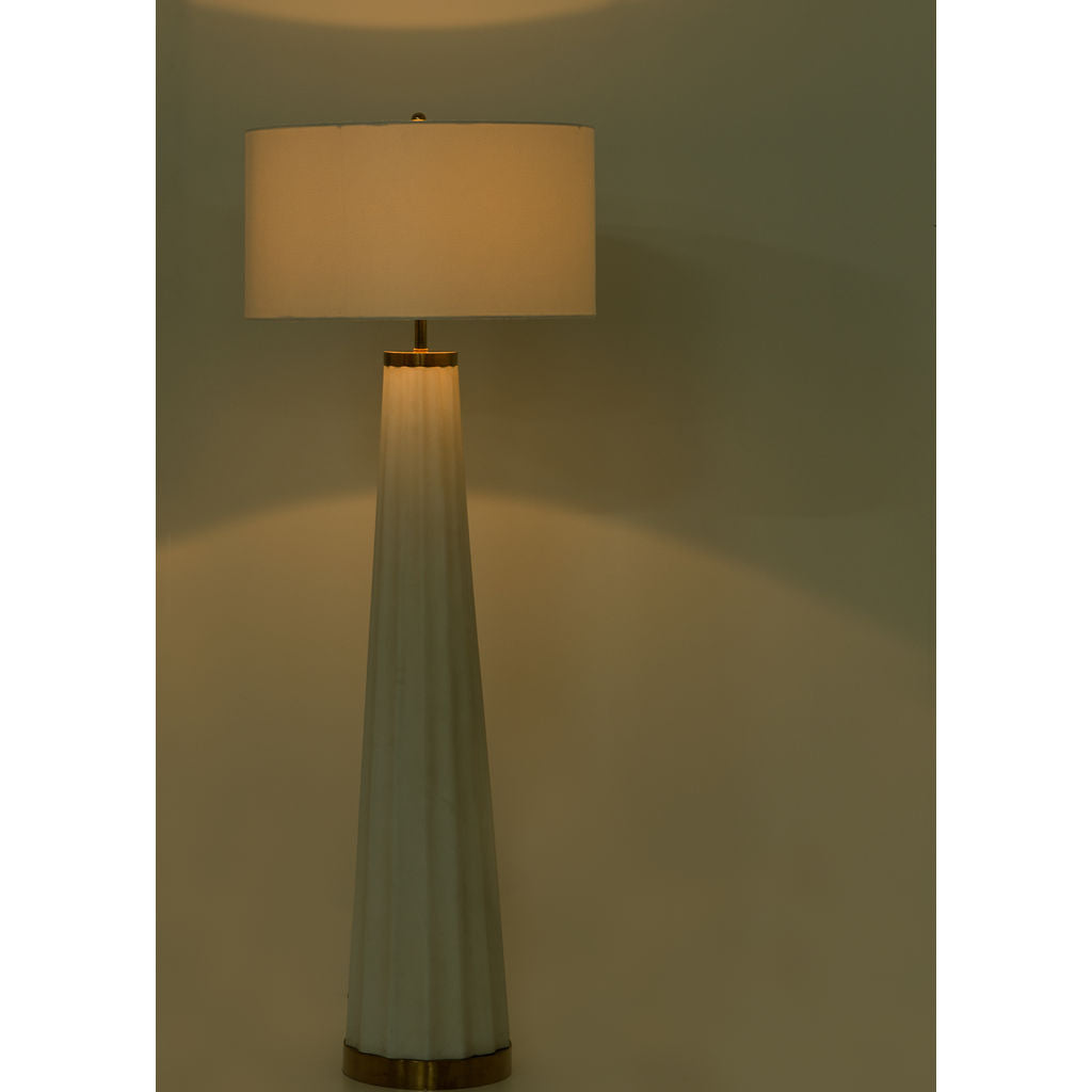 Resource Decor Anya Floor Lamp Rose Gold/Linen