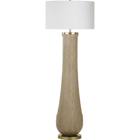 Resource Decor Gray Floor Lamp | Resin