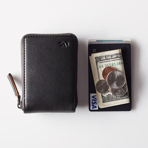 Octovo Birdcage Leather Wallet | Black W01-001-BLK