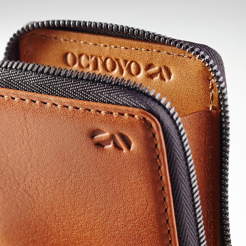 Octovo Birdcage Leather Wallet | Chestnut W01-001-CHU
