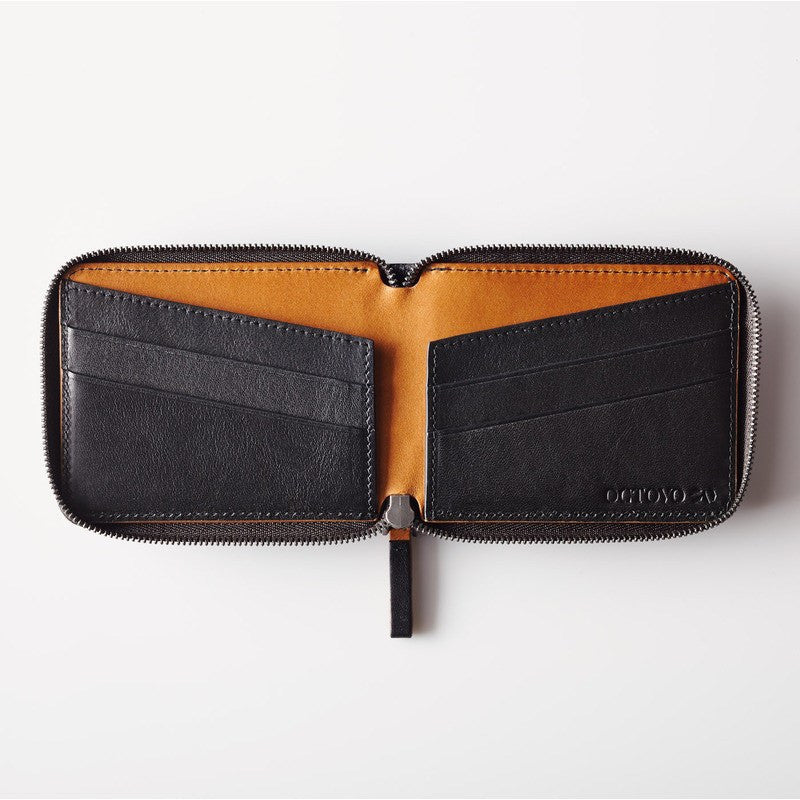 Octovo Cage Leather Wallet | Black W01-002-BLK