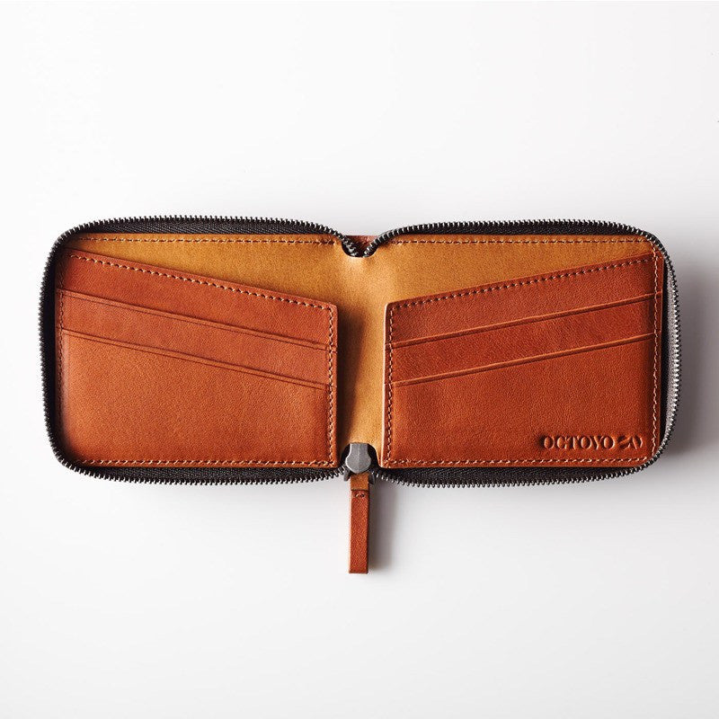 Octovo Cage Leather Wallet | Chestnut W01-002-CHU
