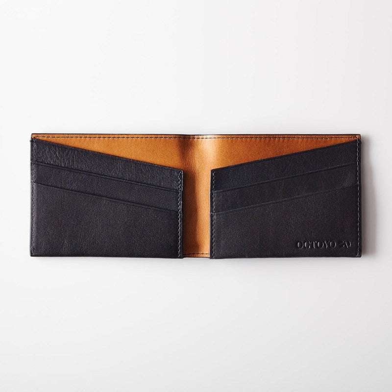 Octovo Purist Leather Wallet | Black W01-003-BLK