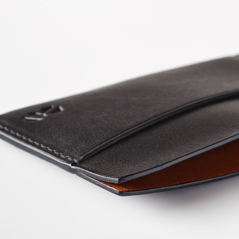Octovo Horizontal Slice Leather Wallet | Black W01-005-BLK