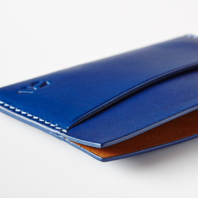 Octovo Horizontal Slice Leather Wallet | Blue W01-005-BLU