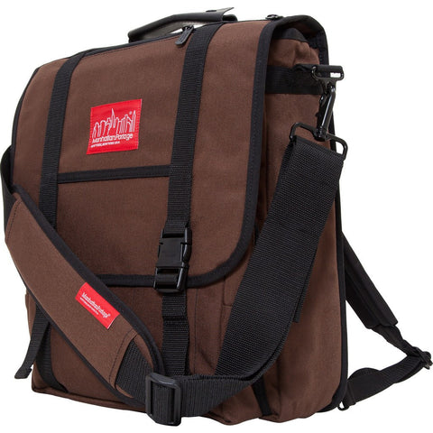 Manhattan Portage 17 Commuter Laptop Messenger Backpack | 1417Z BLK / 1417Z DBR / 1417Z GRY / 1417Z NVY / 1417Z OLV / 1417Z RED