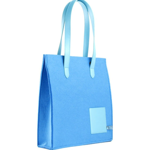 M.R.K.T. Parker Tote Bag SMRT Felt / VEGN Leather | Denim Blue / Azure 142371
