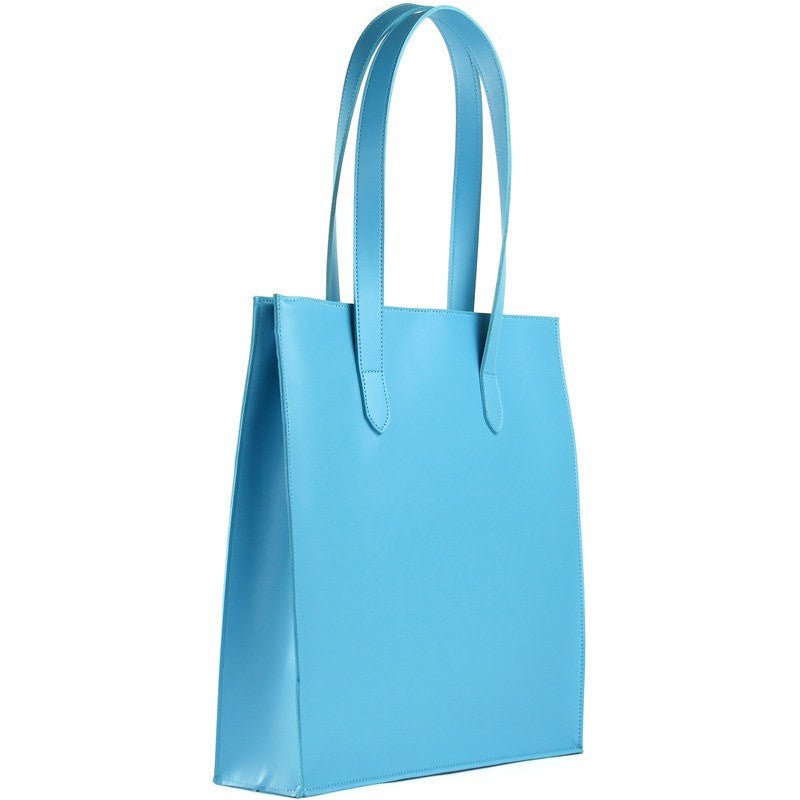 M.R.K.T. Parker Tote Bag SMRT Felt / VEGN Leather | Azure 142490