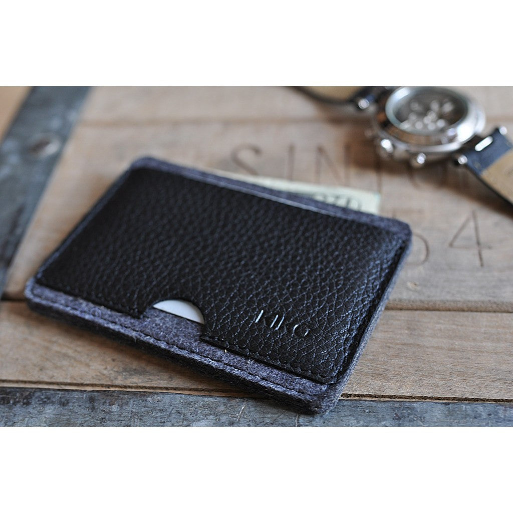Kiko Leather Combo Card Case | Black 142
