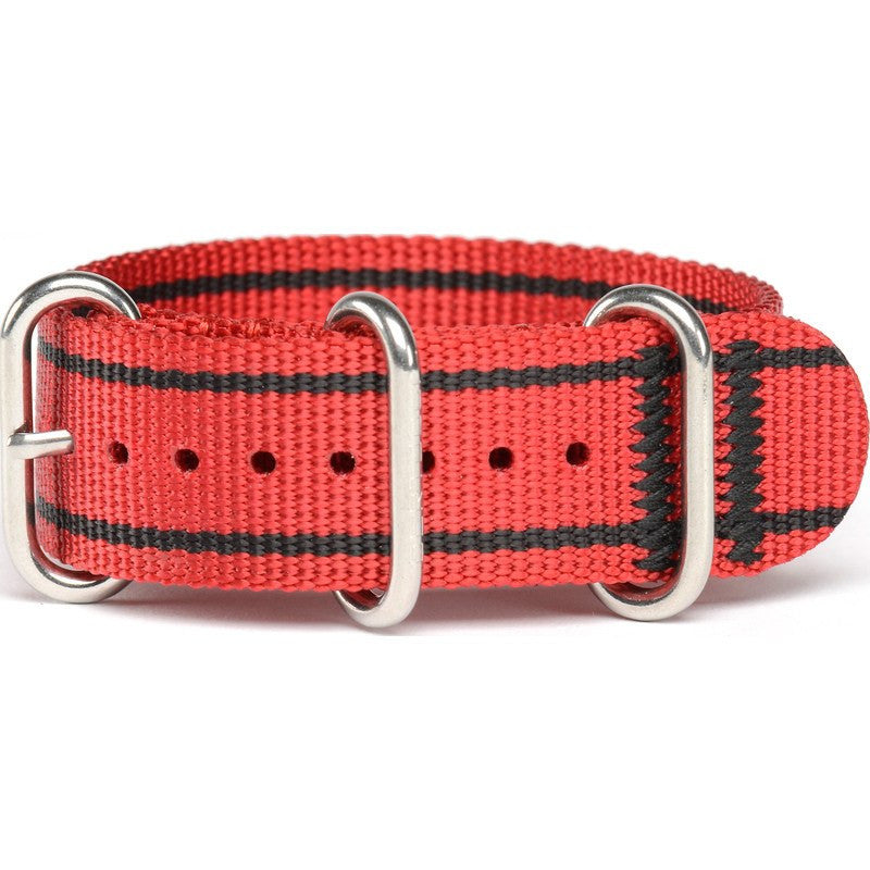 Bertucci DX3 Nylon Watch Band | Rosso Corsa Red/Stripes #143