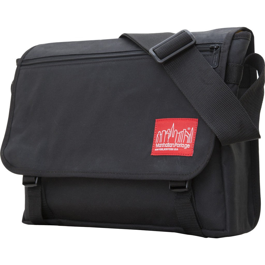 Manhattan Portage Waxed Canvas Europa Messenger Bag | 1434-WP BLK / 1434-WP DBR / 1434-WP FTAN / 1434-WP OLV / 1434-WP RED / 1434-WP NVY