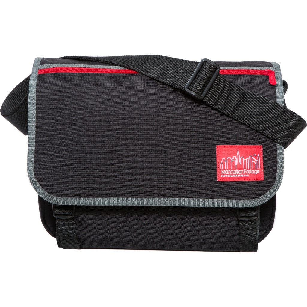 Manhattan Portage Medium 80s Europa Messenger Bag | Black/Zipper 1439Z-C-80S