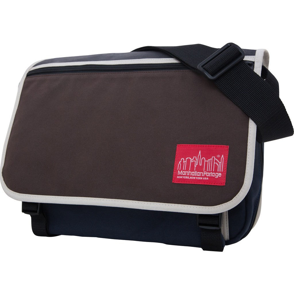 Manhattan Portage Army Duck Europa Messenger Bag | Dark Brown/Navy/Zipper 1439Z-C ARMY