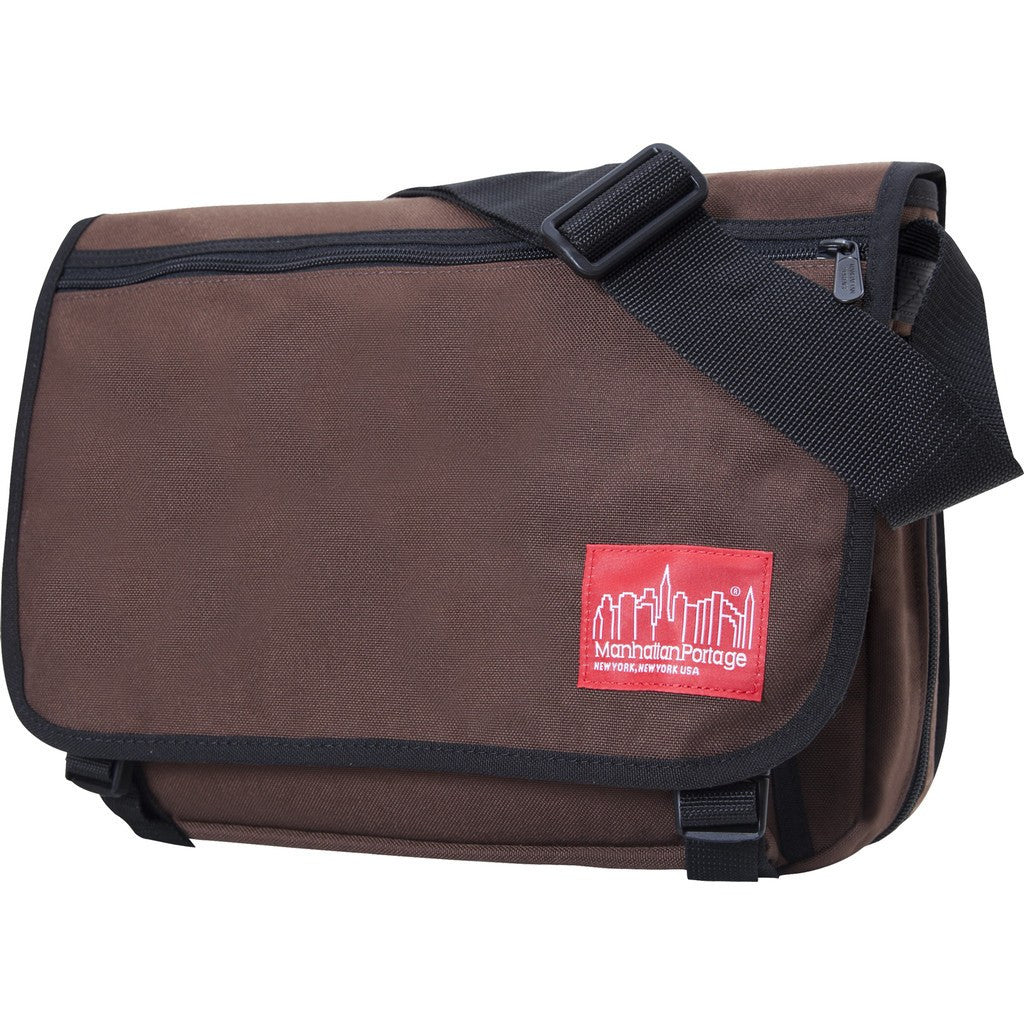 Manhattan Portage Medium Europa Messenger Bag | Dark Brown 1439 DBR / Red 1439 RED