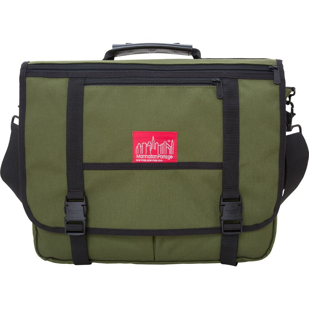 Manhattan Portage Wallstreeter Messenger Backpack | 1444Z BLK / 1444Z DBR / 1444Z GRY / 1444Z NVY / 1444Z OLV / 1444Z RED