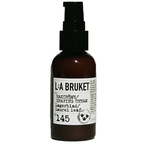 L:A Bruket No 145 Shaving Cream | Laurel Leaf