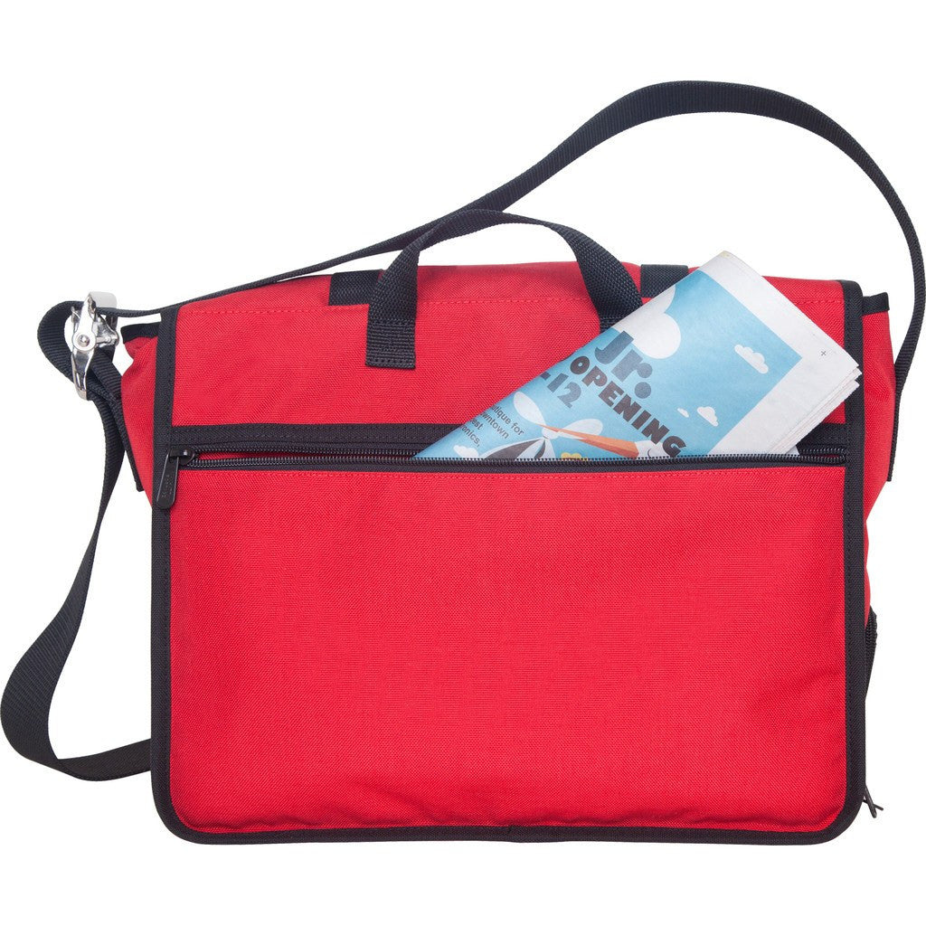 Manhattan Portage Medium Trotter Messenger Bag | Dark Brown 1455 DBR / Navy 1455 NVY / Red 1455 RED