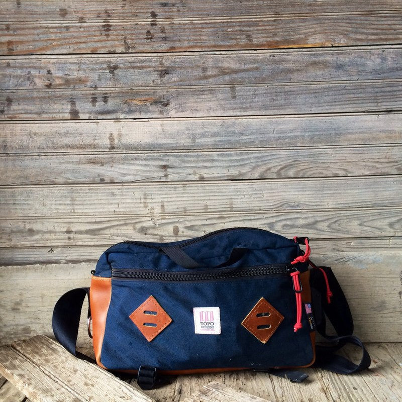 Topo Designs Mini Mountain Bag | Navy/Leather