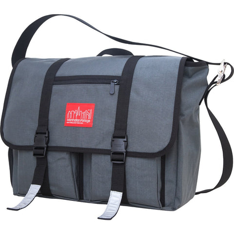 Manhattan Portage Large Trotter Messenger Bag | Dark Brown 1460 DBR / Grey 1460 GRY / Navy 1460 NVY / Red 1460 RED