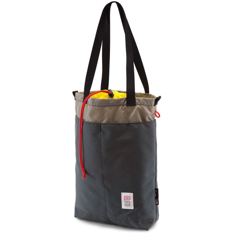 Topo Designs Cinch Tote Bag | Charcoal/Silver