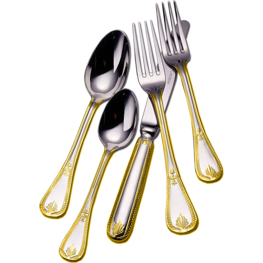 Couzon Consul Five Piece Place Setting | Gold Accent 148302