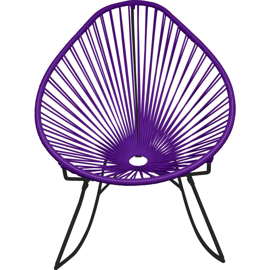 Innit Designs Junior Acapulco Rocker Chair | Black/Purple