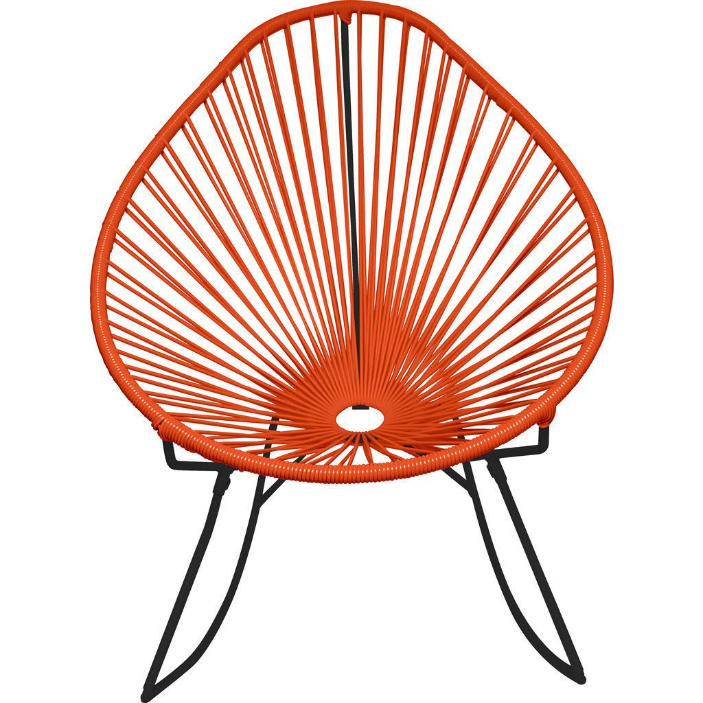 Innit Designs Junior Acapulco Rocker Chair | Black/Orange