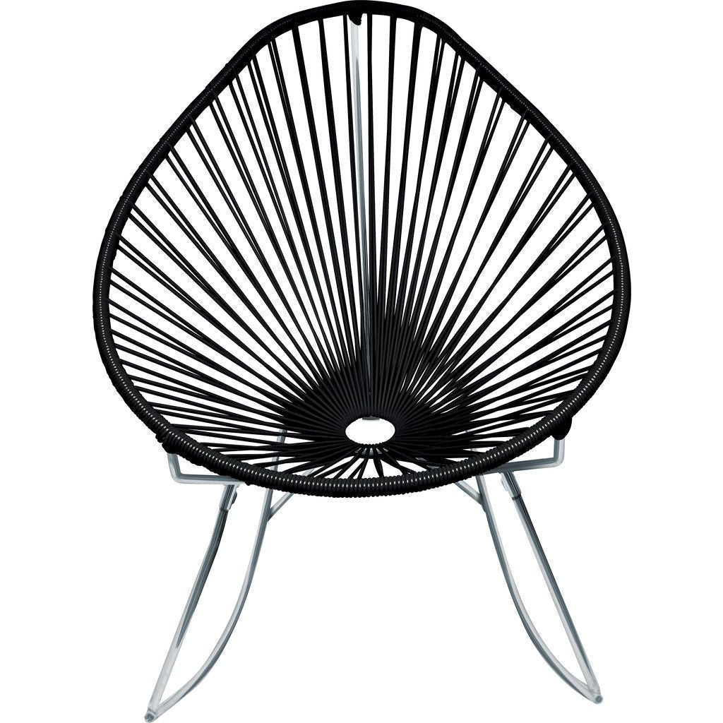 Innit Designs Junior Acapulco Rocker Chair | Chrome/Black