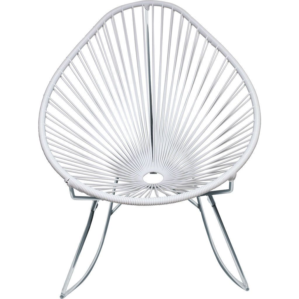 Innit Designs Junior Acapulco Rocker Chair | Chrome/White