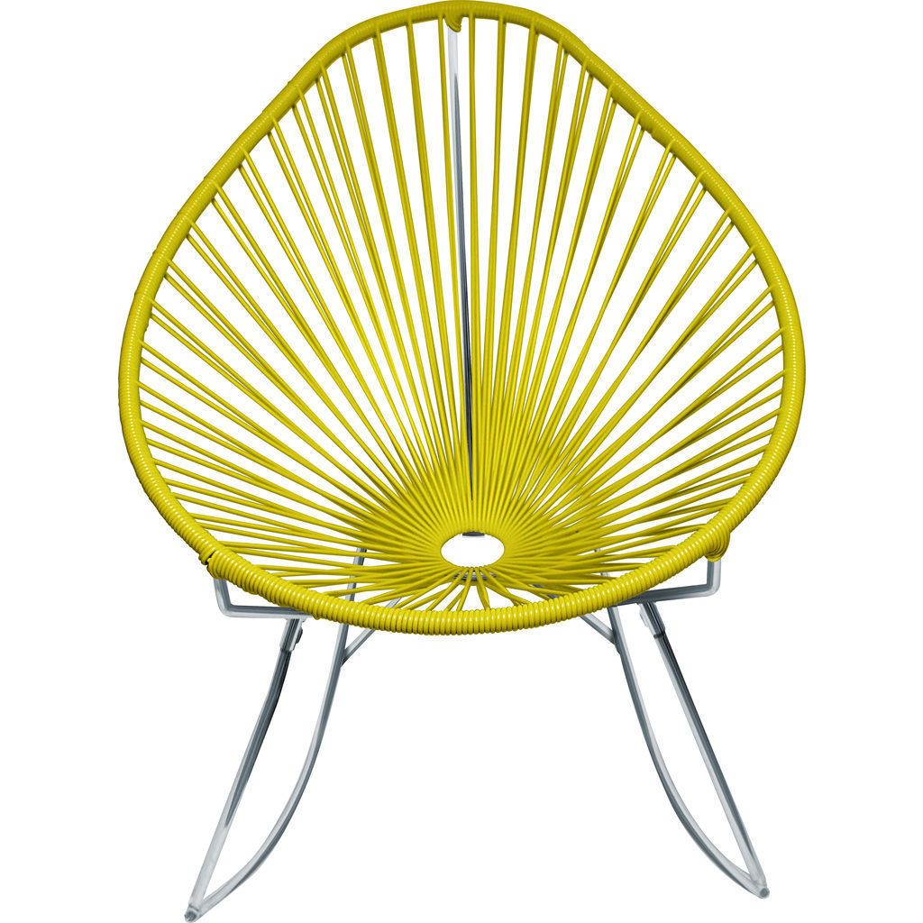 Innit Designs Junior Acapulco Rocker Chair | Chrome/Yellow