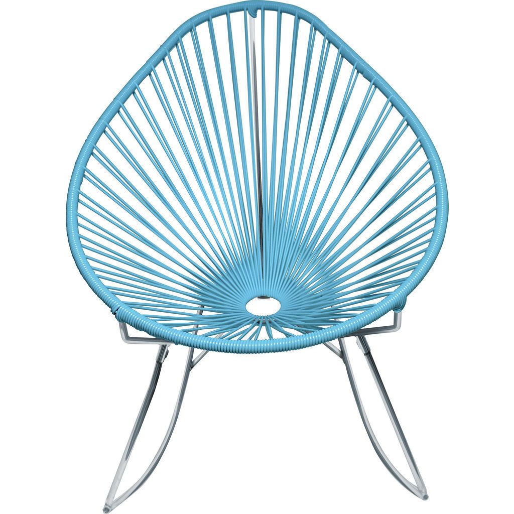 Innit Designs Junior Acapulco Rocker Chair | Chrome/Blue