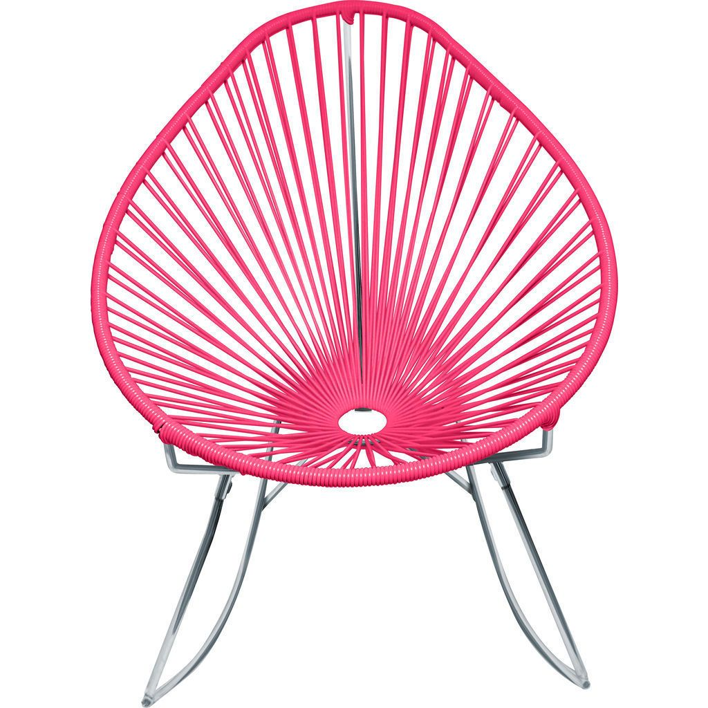 Innit Designs Junior Acapulco Rocker Chair | Chrome/Pink