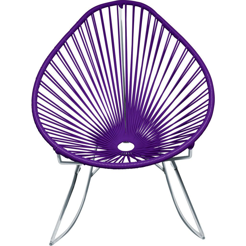 Innit Designs Junior Acapulco Rocker Chair | Chrome/Purple