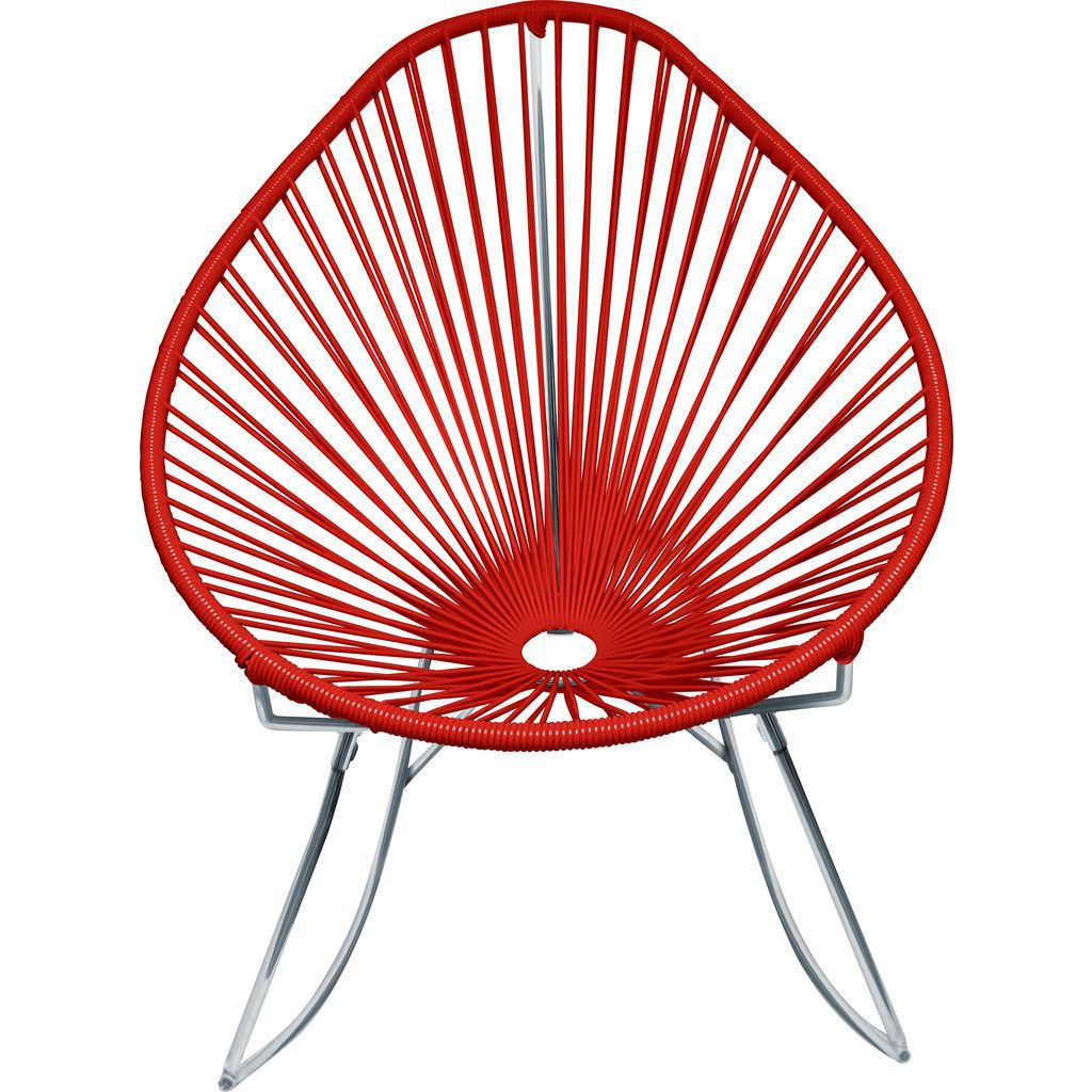 Innit Designs Junior Acapulco Rocker Chair | Chrome/Red