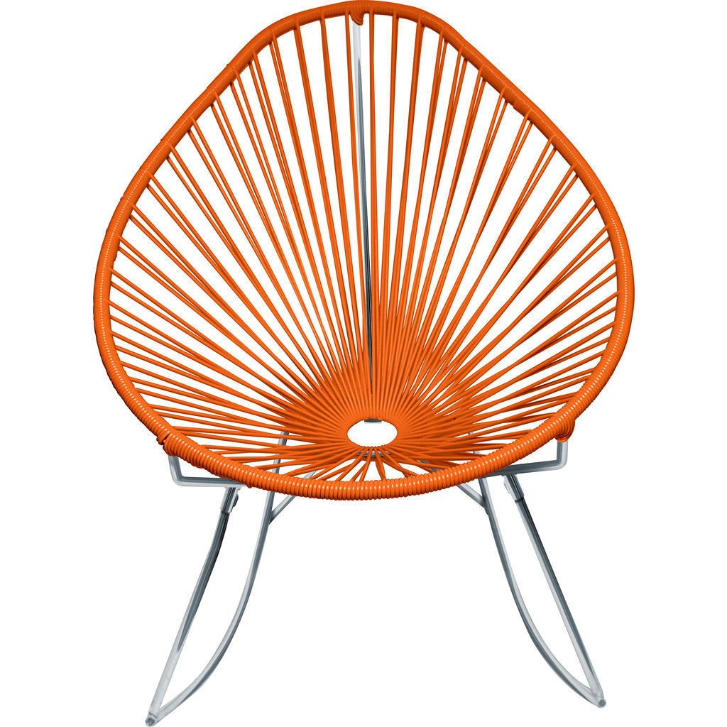 Innit Designs Junior Acapulco Rocker Chair | Chrome/Orange