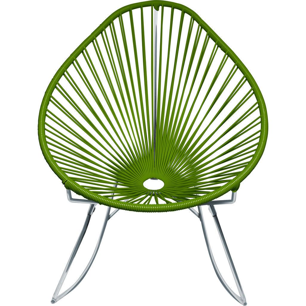 Innit Designs Junior Acapulco Rocker Chair | Chrome/Cactus