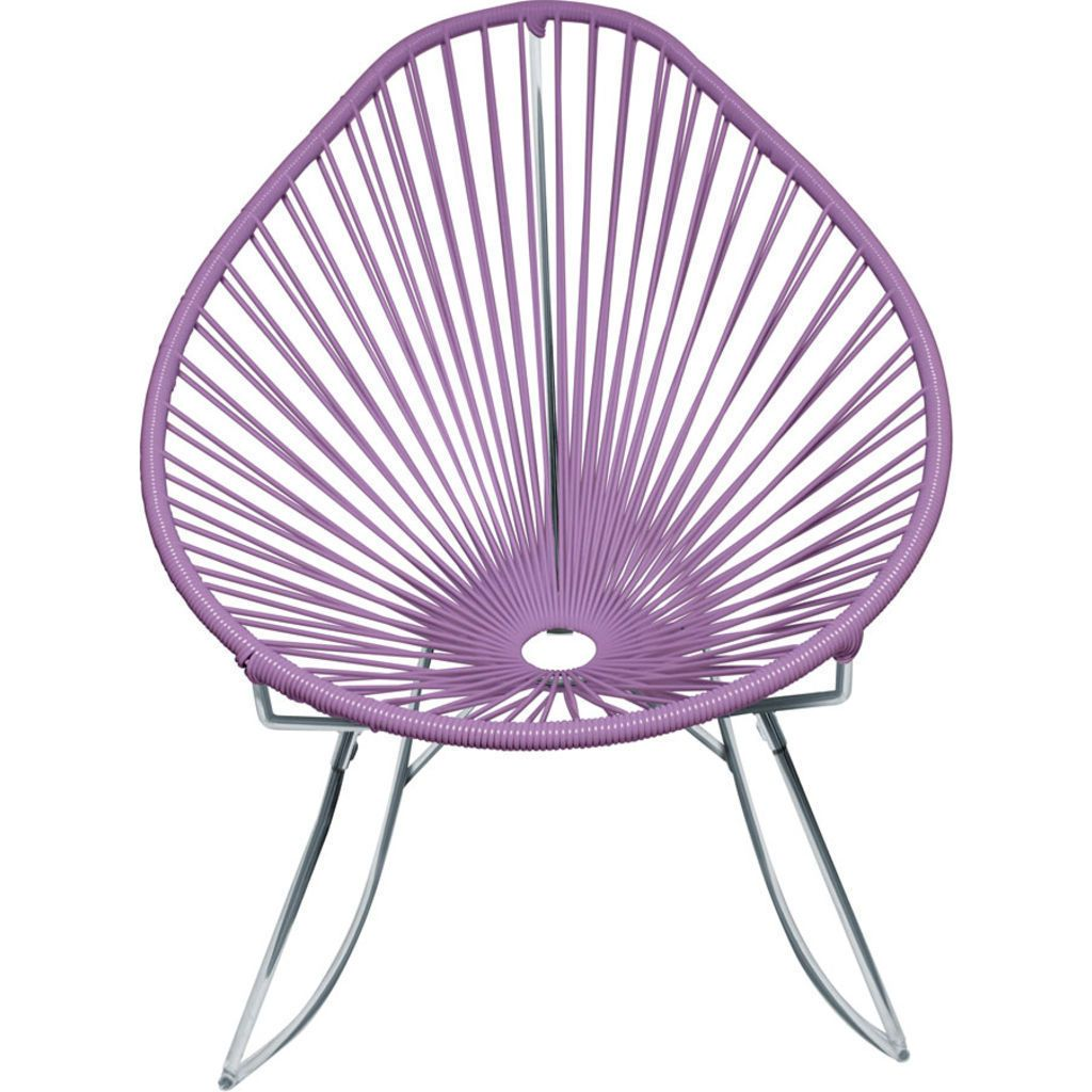 Innit Designs Junior Acapulco Rocker Chair | Chrome/Orchid