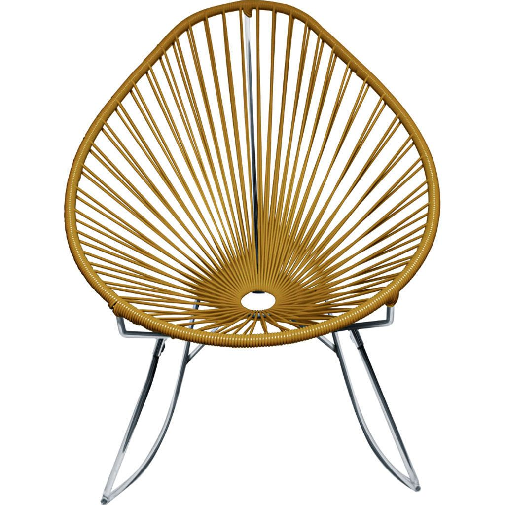 Innit Designs Junior Acapulco Rocker Chair | Chrome/Gold