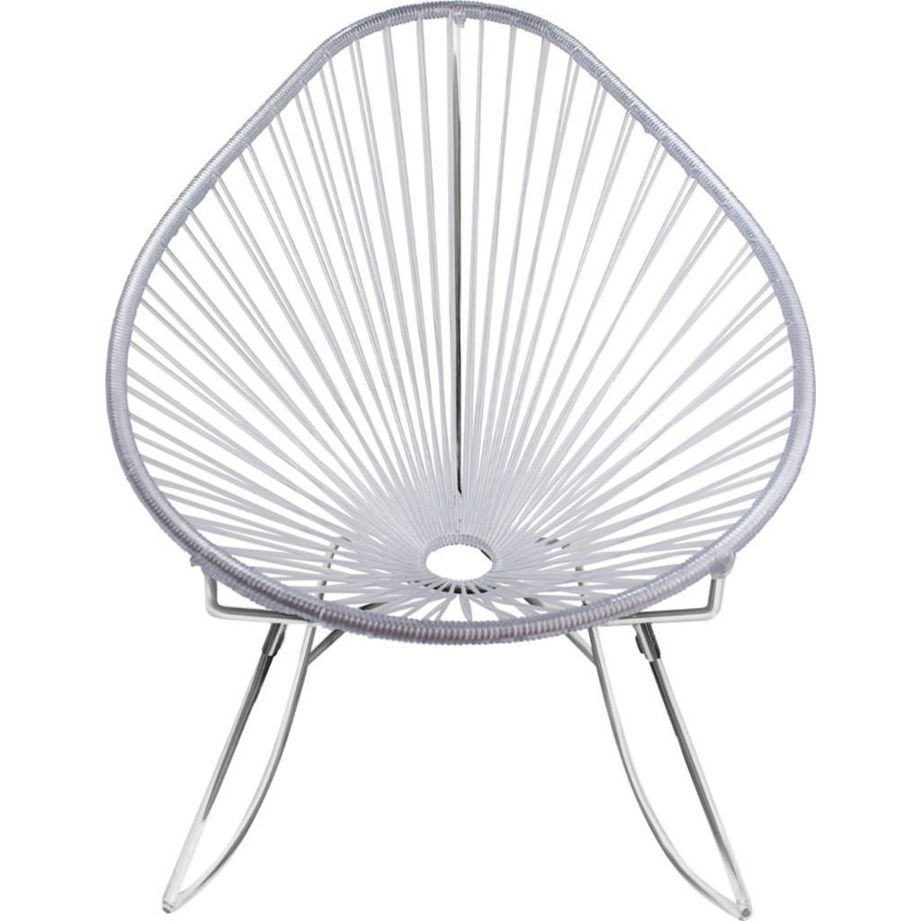 Innit Designs Junior Acapulco Rocker Chair | Chrome/Clear